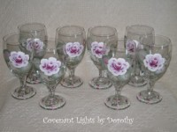 Custom Order - Large Wine Goblets for Adeline in NY