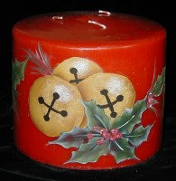Christmas - Bells on Red Candle
