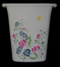 Wastepaper Basket - Pansies