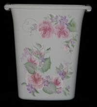 Wastepaper Basket - Roses 1