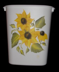 Wastepaper Basket - Sunflowers