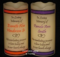 Wedding Memorial Candle - Flameless (Colored Border)