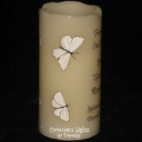 Memorial Candle - Flameless (Butterflies-1 white)