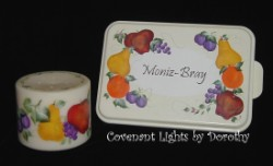 Custom Order - Cake Pan with Matching Candle