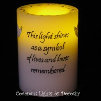 Custom Order for Sandy - Flameless Memorial Candle