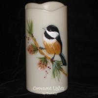 Chickadee Candle