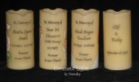 Custom Order - Flameless Memorial Candles for Kathy in GA