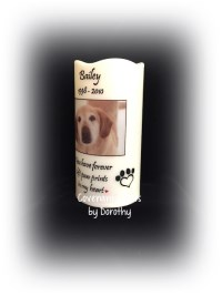Memorial Candle - Pet Photo Personalized