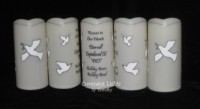 Memorial Candle - Flameless (White Doves)
