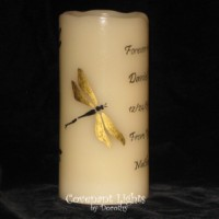Memorial Candle - Flameless (Dragonflies-1)