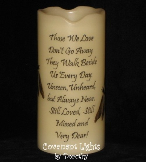 Memorial Candle Flameless Dragonflies 2 Those We Love