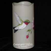 Custom Order for Melissa - Flameless Memorial Hummingbird Candles