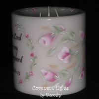 The Lord is My Shepherd Candle