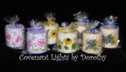 "Assortment of 3"" Candles"