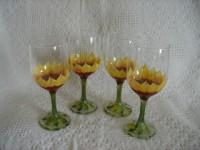 Wine Goblet - Sunflowers