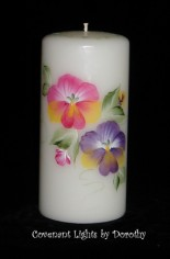 Pansies Candle