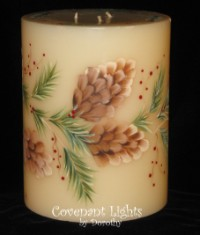 Pine Cones and Evergreens Candle-2