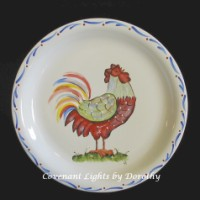 Plate - Rooster Red 2