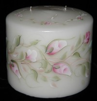 Ring of Pink Rosebuds Candle