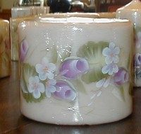 Ring of Violet Rosebuds Candle