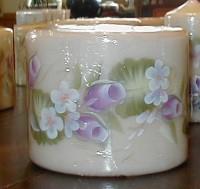 Ring of Violet Rosebuds Candle