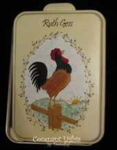 Cake Pan 11 - PERSONALIZED  (Folk Art Rooster)