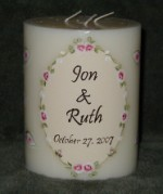 Shower or Wedding Candle - Personalized