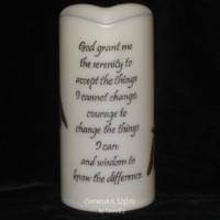 "Serenity Prayer - 6"" LED Flameless Candle"