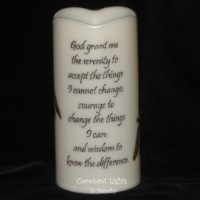 Custom Order - Flameless Memorial Serenity Dragonfly Candle for Nancy
