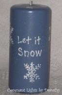 Snowman Candle - Let it Snow