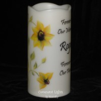 Memorial Candle - Flameless (Sunflowers)