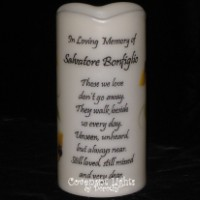 Memorial Candle - Flameless - In Loving Memory - Those we love ...
