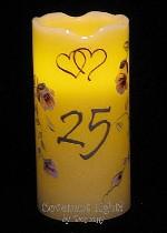 Anniversary Candle - Flameless Pillar