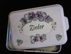Cake Pan 14 - PERSONALIZED (soft lavender base/royal plum roses)